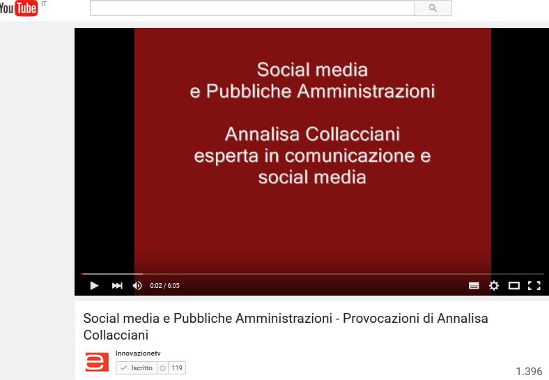 Video-provocazione: Social media e Pubbliche Amministrazioni