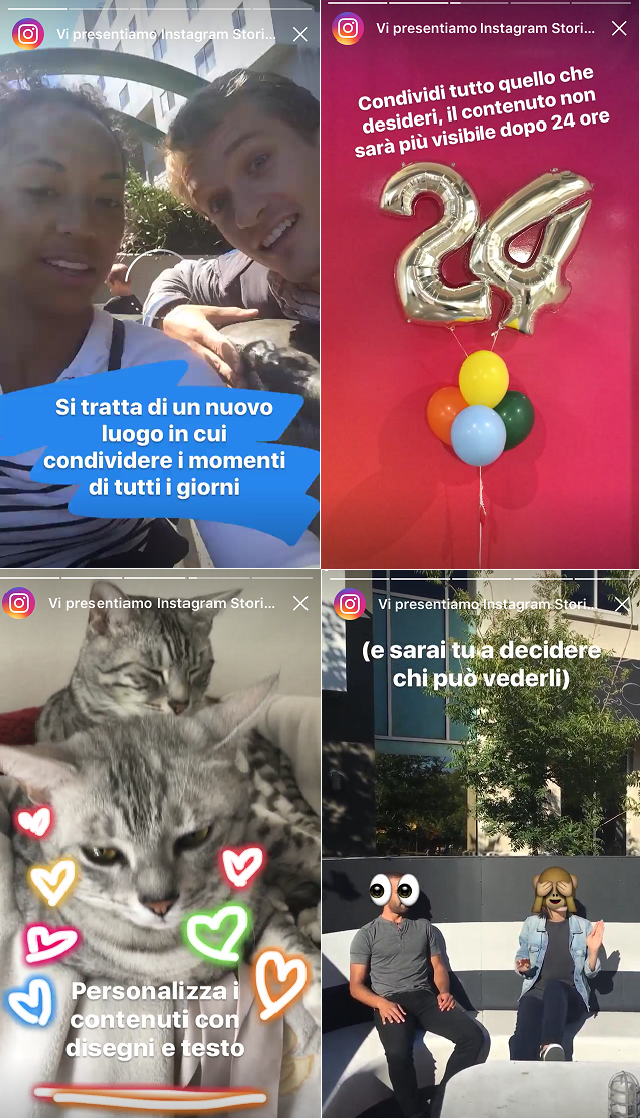 Instagram Stories presentazione